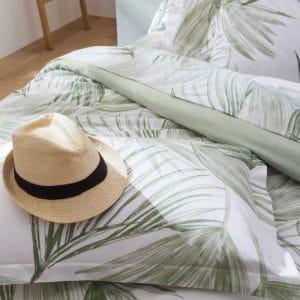 linge de lit A l'ombre vert