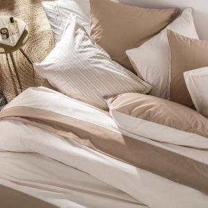 Parure de lit percale de coton IDYLLE, Essix
