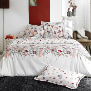 parure de lit en percale de coton Petite folie rouge