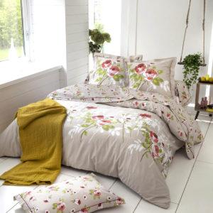 Parure de lit satin de coton ROSERAIE