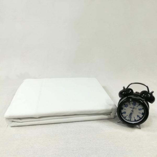 Drap de lit en jersey de coton blanc