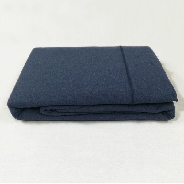 Drap de lit en jersey de coton bleu