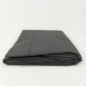 Drap de lit en percale de coton anthracite