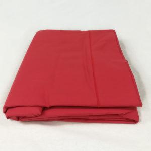Drap de lit en percale de coton carmin
