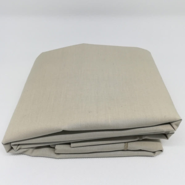 Drap de lit en percale de coton, coloris lin