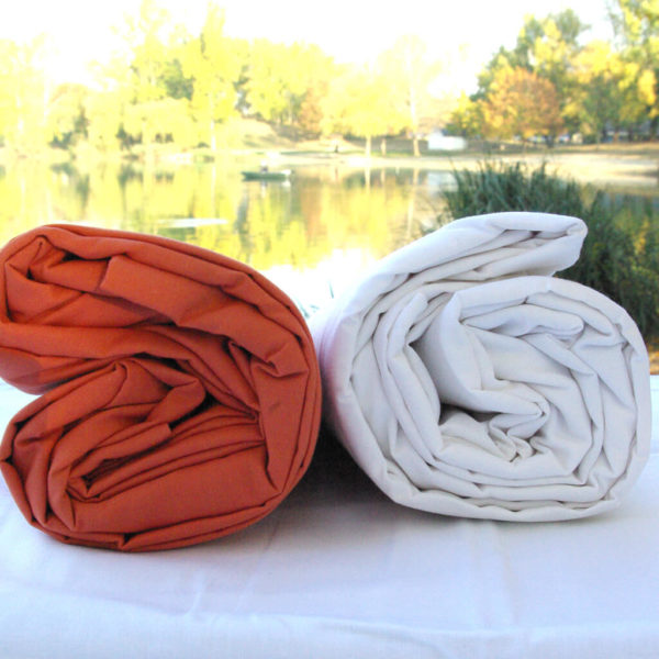 Drap housse coton blanc