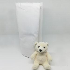 Drap housse blanc en coton 57 fils/cm²
