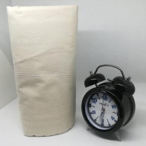 Drap housse en coton écru lavé 57 fils/cm²