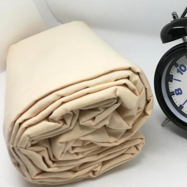 Drap housse en coton naturel 57 fils/cm²