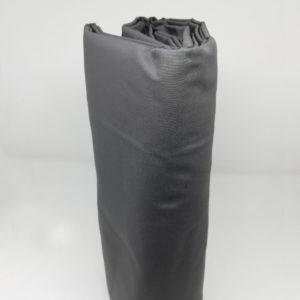 Drap housse en percale de coton anthracite 80 fils/cm²