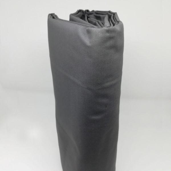 Drap housse en percale de coton anthracite
