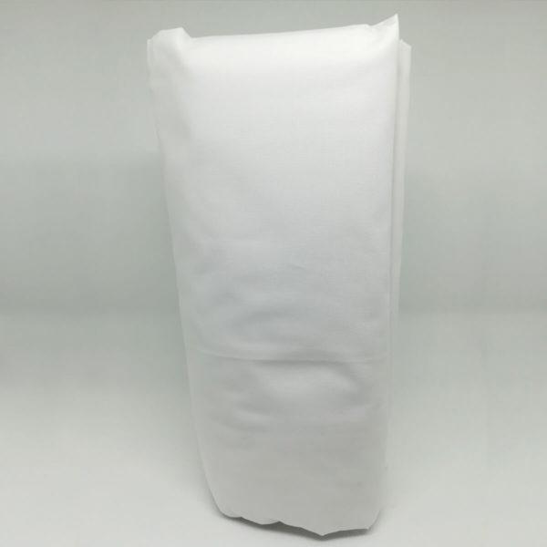 Drap housse en percale de coton blanc