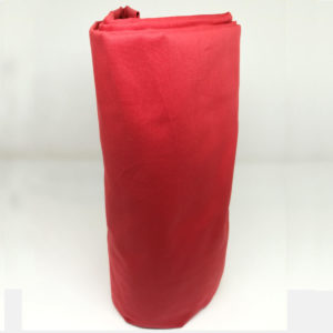 Drap housse en percale de coton carmin 80 fils/cm²
