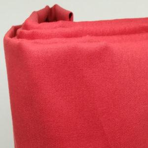 Drap housse en percale de coton rouge carmin 80 fils/cm²