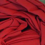 Drap housse percale de coton rouge carmin