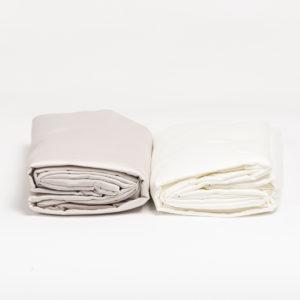Drap housse en satin de coton 80 fils/cm²