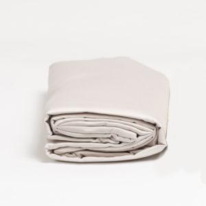 Drap housse satin de coton GALET 80 fils/cm²