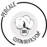 Linge de lit en percale de coton 80 fils/cm²
