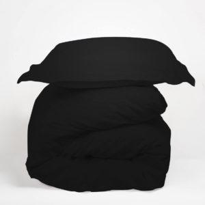 Housse de couette noir COTON Tradilinge