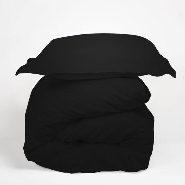 Housse de couette coton noir