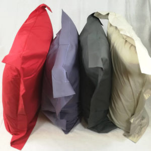 Taie d'oreiller en percale de coton, fabrication française