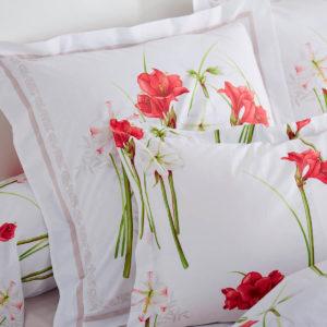 Taie d'oreiller pur coton 57 fils/cm² AMARYLLIS