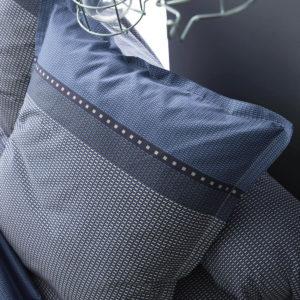 Taie d'oreiller ENZO satin de coton peigné. Un tissage fin et serré : 110 fils/cm². Tradilinge
