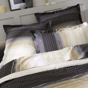 Taie d'oreiller JAZZ Gris en Percale de coton 65x65 et 50x70 de Tradilinge