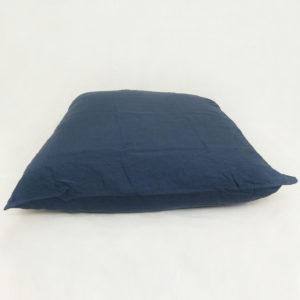 Taie d'oreiller en lin bleu nuit