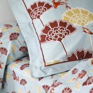 Taie d'oreiller pur coton 57 fils/cm² NYMPHEA