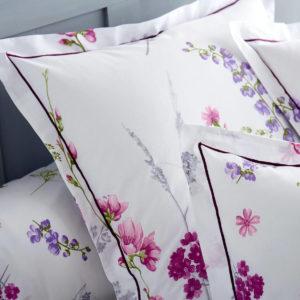 Taie d'oreiller pur coton 57 fils/cm² PRETTY